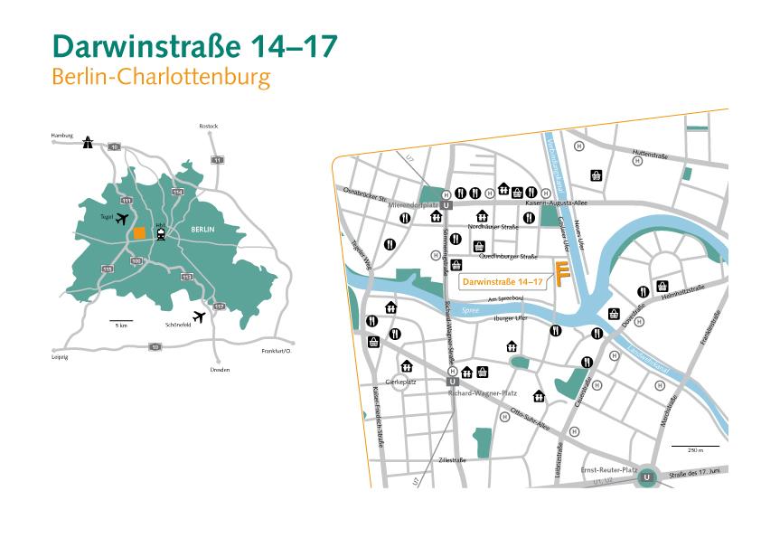 Stadtplan und Locator
