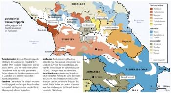 Volksgruppen und Konfliktregionen im Kaukasus