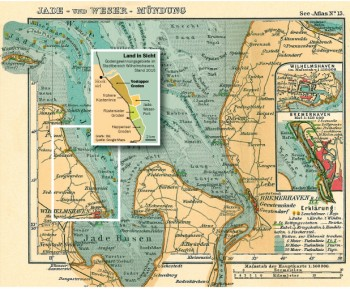 Karte zur Bodengewinnung im Voslapper Watt